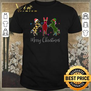 Funny Horse Merry Christmas leopard plaid shirt sweater