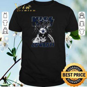 Funny Kiss Cowboys Dallas Cowboys Guitar Skull shirt sweater