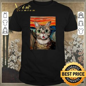 Funny Lil Bub The Scream Vincent Van Gogh shirt sweater