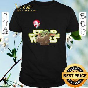 Funny Mickey Star Wars Baby Yoda Hold Balloon shirt
