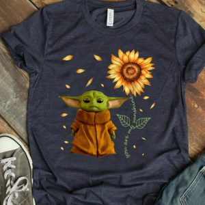 Funny Sunflower Baby Yoda You Are My Sunshine shirt