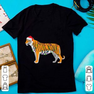 Funny Tiger Christmas Lights Decorations Santa Xmas Gifts sweater