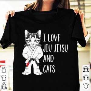 Great Cat Lovers I Love Jiu Jitsu And Cats shirt