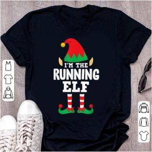 Great I'm The Running Elf Matching Family Group Christmas Runner sweater