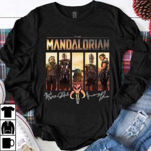 Great The Mandalorian Baby Yoda Characters Signatures shirt
