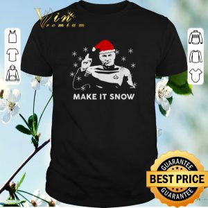 Hot Christmas Star Trek Santa make it snow shirt