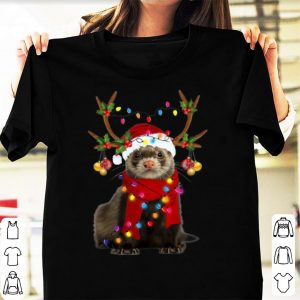Hot Ferret Gorgeous Reindeer Merry Christmas shirt