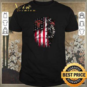Hot Fireball Cinnamon inside American flag shirt sweater