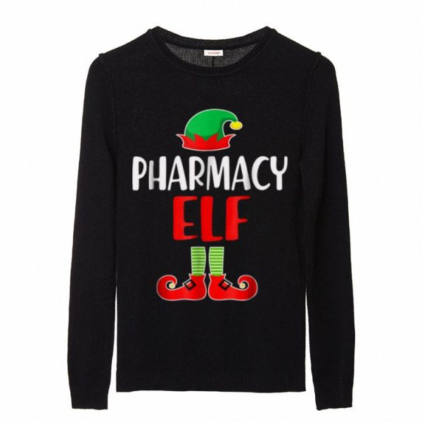 Hot Pharmacy Elf Funny Pharmacist Tech Holiday Christmas sweater
