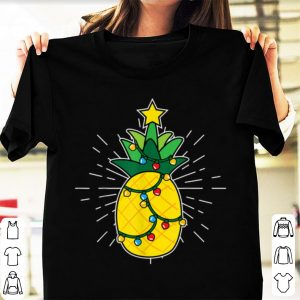 Hot Pineapple X-Mas Tree Light Up Star Cute Christmas Gift sweater