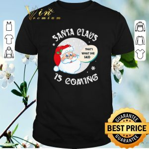 Hot Santa claus that's what she said is coming Christmas shirt sweater