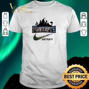 Hot fortnite battle royale nike just play it logo shirt sweater