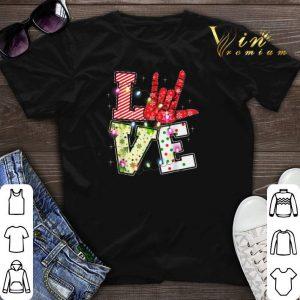 Love Hand Sign Language Christmas Light Xmas shirt sweater