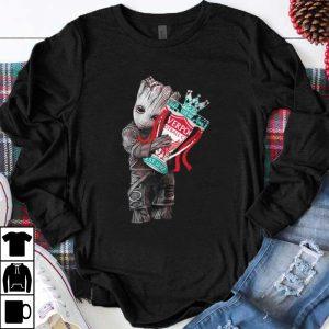 Nice Baby Groot hug Liverpool shirt