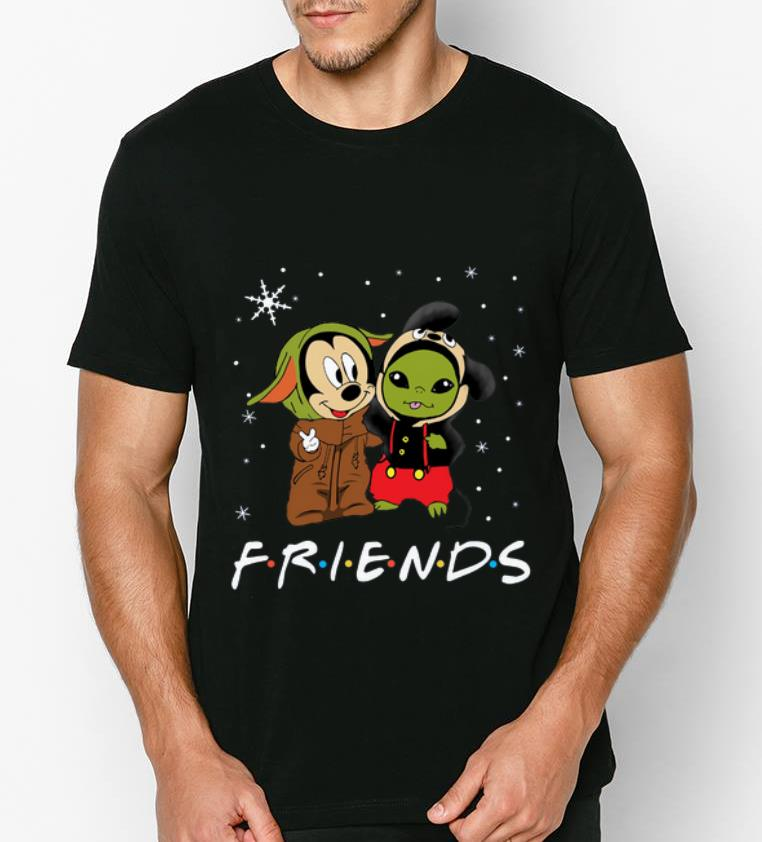 Nice Baby Yoda and Mickey Mouse Friends snow christmas shirt 4 - Nice Baby Yoda and Mickey Mouse Friends snow christmas shirt