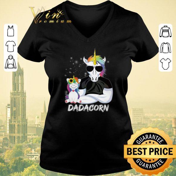 Nice Christmas Dadacorn Unicorn Dad And Daughter shirt