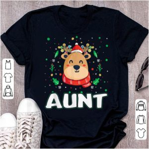 Nice Cute Aunt Reindeer Santa Ugly Christmas Family Matching sweater