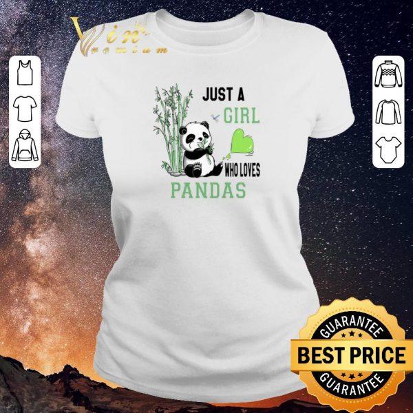 Nice Just a girl who loves Pandas shirt sweater