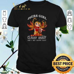 Nice San Francisco 49ers Butterfly girl classy sassy a bit smart assy shirt sweater