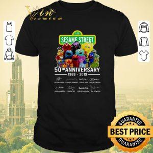 Nice Signatures 123 Sesame Street 50th anniversary 1969 2019 Muppet shirt