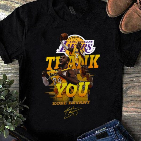 Nice Thank you Kobe Bryant Los Angeles Lakers signature shirt