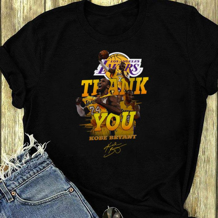Nice Thank you Kobe Bryant Los Angeles Lakers signature shirt 4 - Nice Thank you Kobe Bryant Los Angeles Lakers signature shirt