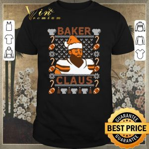 Nice ugly christmas baker mayfield baker claus cleveland brown sweater