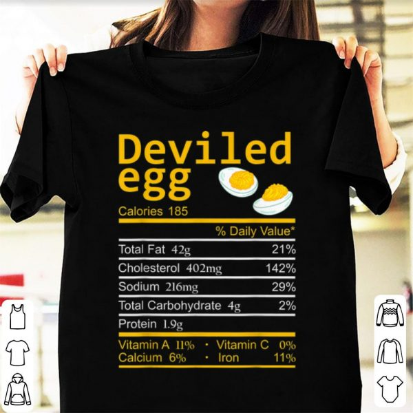 Official Deviled Egg Nutrition Facts Thanksgiving Costume Christmas sweater