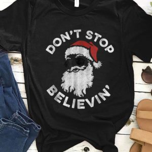 Official Don't Stop Believin' Cool Shades Santa sweater
