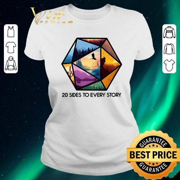 Official Dungeons And Dragons 20 Sides To Every Story shirt sweater