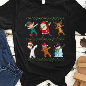 Official Funny Dabbing Santa Basset Hound And Friends Christmas sweater