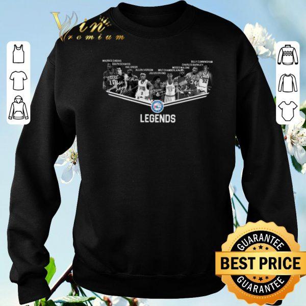 Official Signature Philadelphia 76ers Legends all shirt