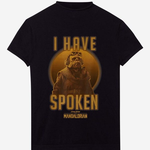 Official Star Wars The Mandalorian Kuiil I Have Spoken shirt