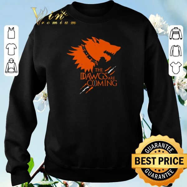 Official The Dawgs Are Coming Cleveland Browns shirt sweater