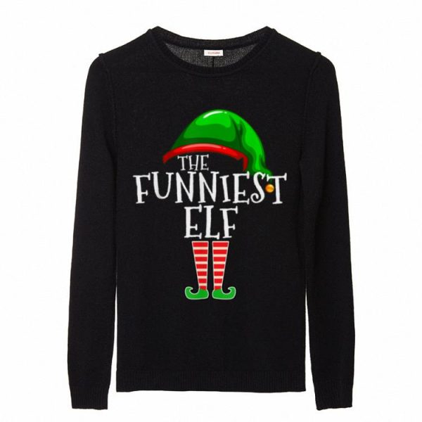 Official The Funniest Elf Family Matching Group Christmas Gift Funny sweater