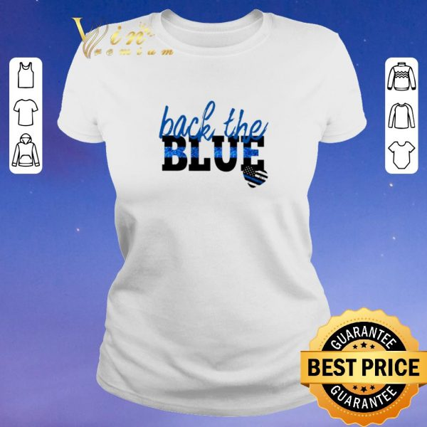 Official back the blue Thin Blue Line heart shirt sweater