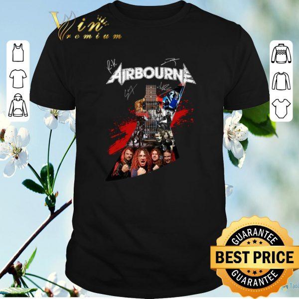 Original Airbourne all signature guitarist shirt sweater