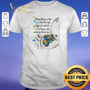 Original Autism Puzzle elephants bless those who see life through window shirt sweater