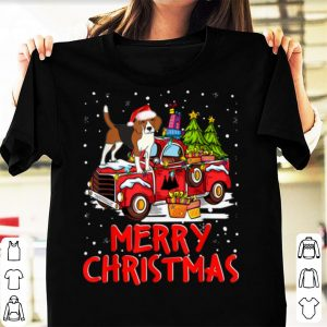 Original Beagle Rides Red Truck Merry Christmas Pajama Funny Gifts sweater