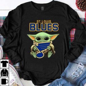 Original Star Wars Hockey Baby Yoda Hug St Louis Blues shirt