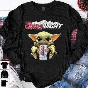 Premium Baby Yoda Hug Coors Light shirt