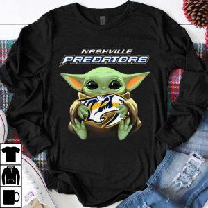 Premium Baby Yoda Hug Nashville Predators NHL shirt