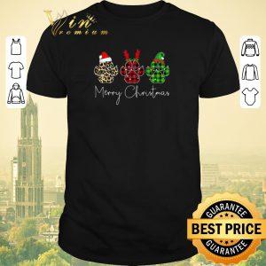 Premium Bear Paw Merry Christmas Leopard shirt sweater