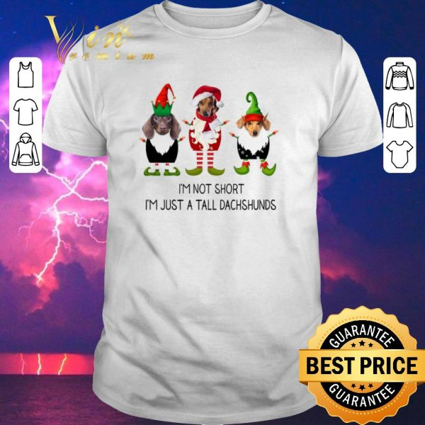 Premium Christmas Elf i'm not short i'm just a tall dachshunds shirt