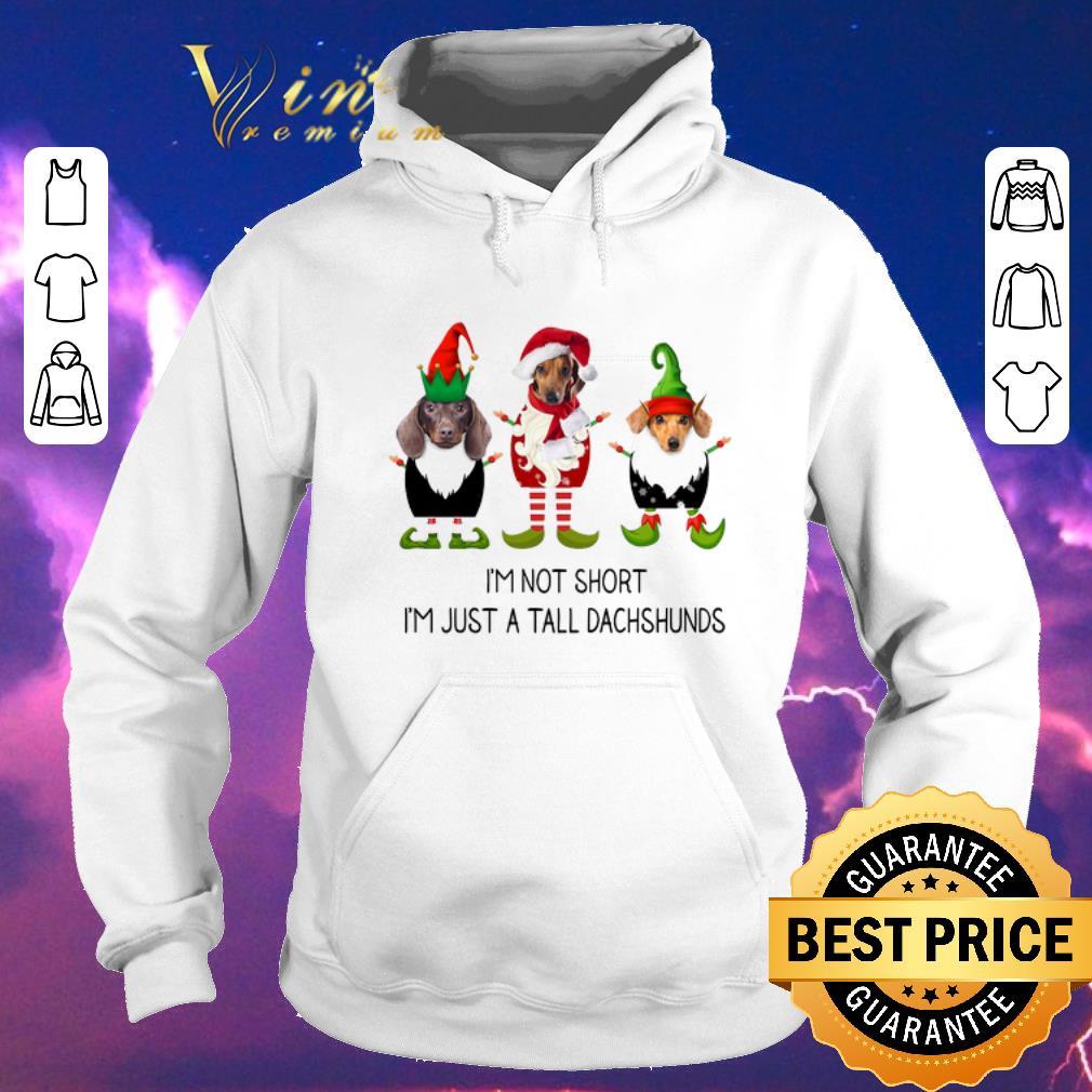 Premium Christmas Elf i m not short i m just a tall dachshunds shirt 4 - Premium Christmas Elf i'm not short i'm just a tall dachshunds shirt