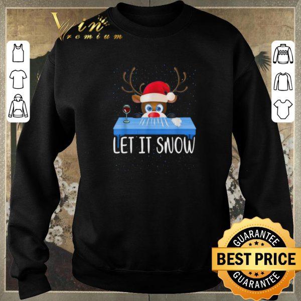 Premium Christmas Santa Reindeer Walmart Cocaine Let It Snow shirt