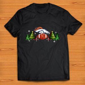 Premium Denver Broncos Christmas Tree Heartbeat shirt