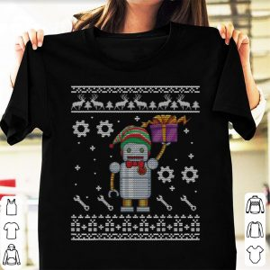 Premium Lovely Robot With ELF Costume Christmas Present Merry Xmas sweater