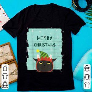 Premium Merry Christmas Funny Cat Santa Hat Cute Cat Lover Gift sweater