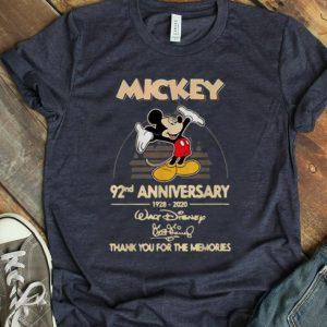Premium Mickey Mouse 92nd Anniversary 1928-2020 Walt Disney Signature shirt